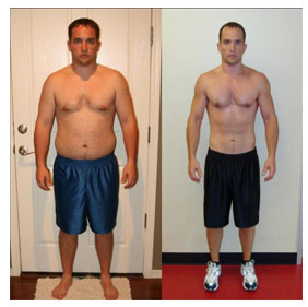 man before and after fat loss